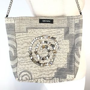 NEO BAG Beaded Embressed Purse